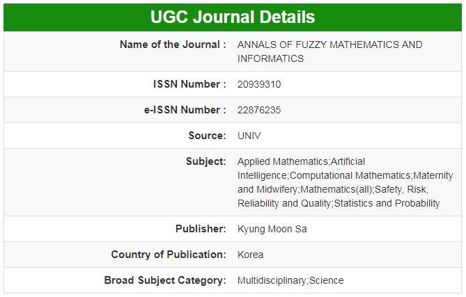 Annals of Fuzzy Mathematics and Informatics